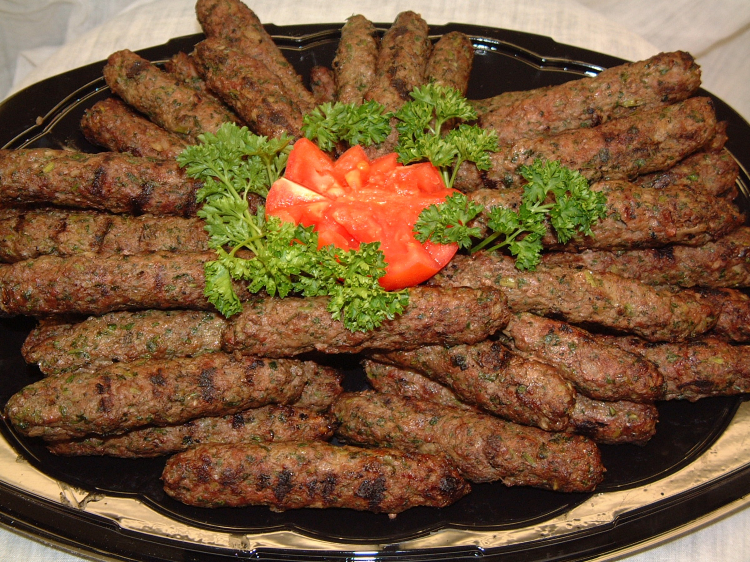 That's the Kafta, it's one of best foods ever, it's a kind of meat